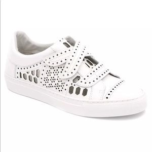 RACHEL Zoe Jaden leather white Velcro sneakers 8.5